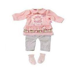 Ubranka dla lalki Baby Annabell Deluxe 3 in 1 Dress with socks różowe
