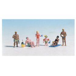 Figurki plażowiczów w skali H0, malowane, 6 szt.