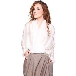 Koszula jedwabna Bhutańska biała