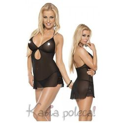 Roxana Mini Dress & String Model: 6570 Black M Sukienka i stringi czarne M
