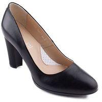 0277P-001 Marco Shoes czółenka czarne skórzane