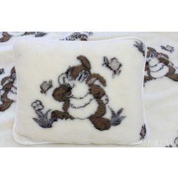 Poduszka z wełny merynosa 50x60 - Zajączki