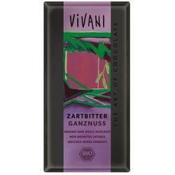 Vivani: czekolada gorzka z całymi orzechami laskowymi BIO - 100 g