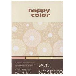 Blok Deco A5/20 kartek Ecrue