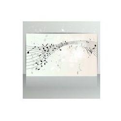 Foto naklejka samoprzylepna 100 x 100 cm - Karta z abstrakcyjnego tła z nut