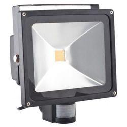 Superled Oprawa lampa naświetlacz halogen Led 50W barwa zimna z czujnikiem ruchu PIR