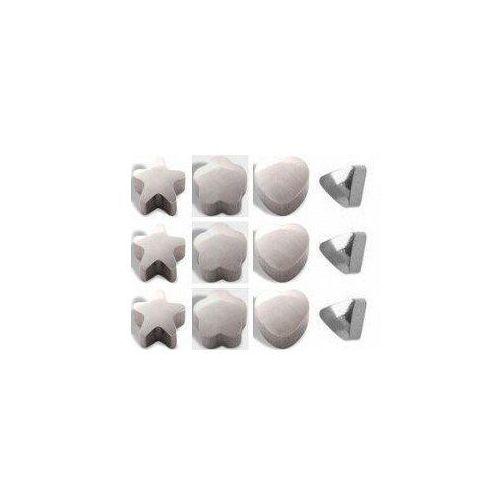 Kolczyki 513 Kpl motywów kolor srebrny