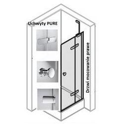 Drzwi do ścianki bocznej PRAWE Huppe Enjoy ELEGANCE 120 cm, montaż na brodziku, srebrny mat, szkło przeźroczyste z Anti-Paque 3T0205.087.322