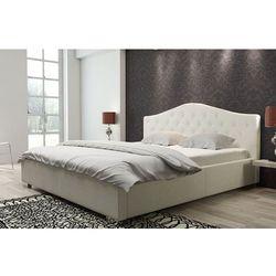 PRICNESS beżowe łóżko 180 cm tapicerowane - 180 x 200 cm