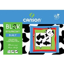 Blok rysunkowy Canson A3/20k. 6666118 biały