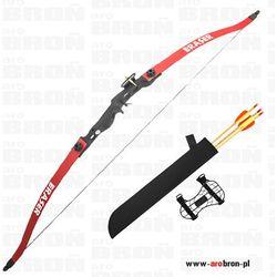 Łuk sportowy Eraser BEETLE RED czerwony + kołczan i strzały łuk klasyczny