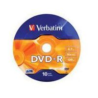 Verbatim DVD-R 16x 4.7GB 10P SP Matt Silver Wrap 43729