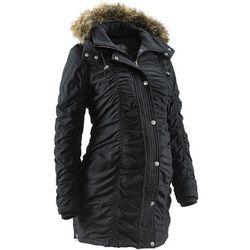 Zimowa kurtka ciążowa bonprix czarny