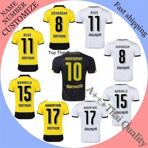 2015 Soccer Jersey Borussia Dortmund Maillot MARCO REUS Camiseta 2016  Borussia Dortmund 15 16 BVB Dortmund Camisa Football Shirt e3f61368f8805