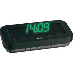 Zegar cyfrowy z projektorem wyświetlającym godziny Sterowany radiowo TFA 60.5009.05, Czarny, (DxS) 84 mm x 165 mm