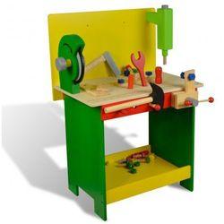 Drewniany stół warsztatowy dla dzieci z narzędziami 33 części Zapisz się do naszego Newslettera i odbierz voucher 20 PLN na zakupy w VidaXL!