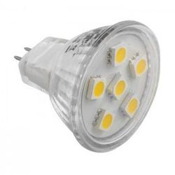 Żarówka LED MR11 G4 6 LED SMD 5050 12V biała zimna