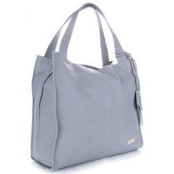 42727a7262724 VITTORIA GOTTI Made in Italy Duża Torba Skórzana Shopperbag Jasno Szara  (kolory)