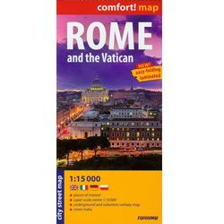 Rzym i Watykan laminowany plan miasta 1:15 000 (opr. miękka)