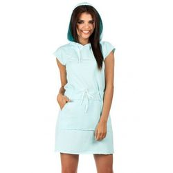 Sukienka dresowa z kapturem MOE101