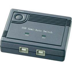 """Przełącznik USB 2.0 renkforce """"Komfort"""" 2 Porty Czarny"""