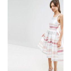 ASOS Stripe Vintage Midi Prom Dress - Multi