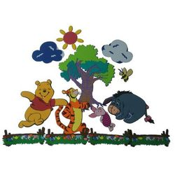 Disney, Kubuś Puchatek i przyjaciele, zestaw dekoracji ściennych Darmowa dostawa do sklepów SMYK
