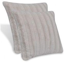 Beżowe poduszki z imitacji skóry 2 szt. 45 x 45 cm Zapisz się do naszego Newslettera i odbierz voucher 20 PLN na zakupy w VidaXL!