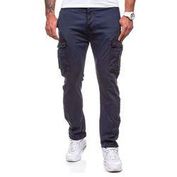 Granatowe spodnie bojówki męskie Denley 8380 - GRANATOWY Spodnie 59.99 (-14%)