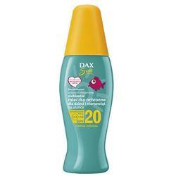 Dax Sun Niebieskie mleczko ochronne dla dzieci i niemowląt na słońce SPF 20, spray ŚREDNIA OCHRONA