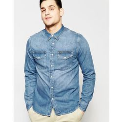 Lee Western Denim Shirt Slim Fit Constant Blue Light Wash - Blue