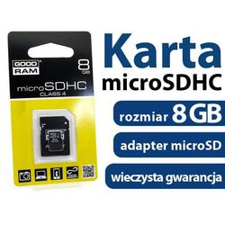 - Karta pamięci GOODRAM micro SDHC 8GB