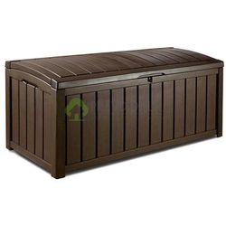 Skrzynia ogrodowa ławka Glenwood brązowa