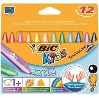 Kredki świecowe Bic Kids Plastidecor Triangle 829773 12kol.
