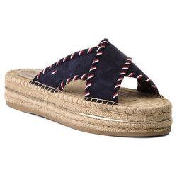 e332970c6aa37 Espadryle TOMMY HILFIGER - Interlace Suede Flatform Sandal FW0FW03399 Rwb  020