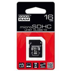 KARTA PAMIĘCI MIKRO SD 16GB CLASS10 + ADAPTER GOODRAM