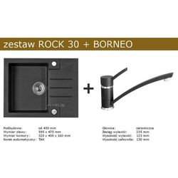 Zestaw ALVEUS ROCK 30 + BORNEO (kolor CZARNY)