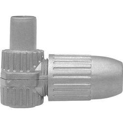 Złącze kątowe koncentryczne IEC CKS 4-00 Axing CKS 4-00 Wtykany Wtyczka koaksjalne Przewód, z wolnym końcem Srebrny