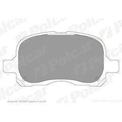 Klocki hamulcowe (4szt. komplet) COROLLA Compact (_E11_), 04.1997-01.2002