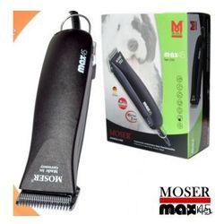 Moser 1245 Max 45 Oryginalna niemiecka Profesjonalna maszynka do strzyżenia zwierząt domowych + ostrze 3mm + schemat strzyżenia