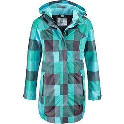 Długa kurtka outdoorowa 3 w 1 bonprix czarny w kratę