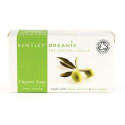 Głęboko oczyszczające Mydło z Oliwek, Olejku Herbacianego i Eukaliptusa - 150g - BENTLEY ORGANIC