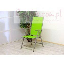 Krzesło ogrodowe aluminiowe składane zielone