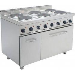 Kuchnia z piekarnikiem |elektryczna | 6 płyt x 2,6 kW | 685x530x350mm
