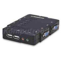 Manhattan Przełącznik KVM 4/1 USB (z audio)