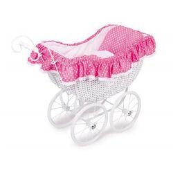 Wózek wiklinowy dla lalek Róża