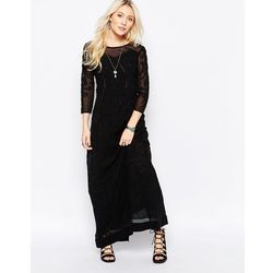 Free People Say You Love Me Lace Panel Maxi In Black - Black
