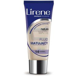 Lirene Nature Matte Fluid matujący nr 14 Karmel 30 ml