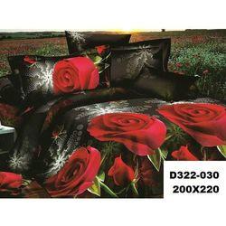 Komplet Pościeli 200x220 Pościel 3D róże 3cz 030 - 030