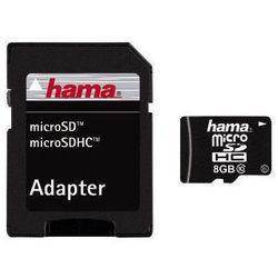 Karta HAMA microSDHC/8GB Class 10 + Adapter SD